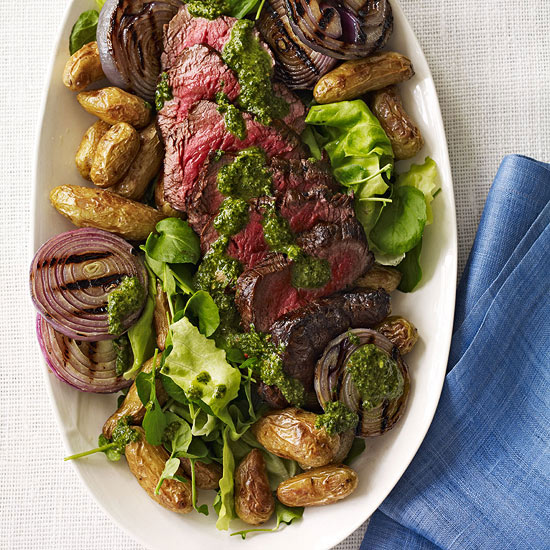Grilled Steak Salad with Chimichurri Dressing | Family Circle