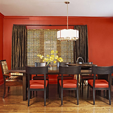 A Contemporary Riff On The Classic Red Dining Room Earthy Has An Organic Feel That Blends Well With Wood Tones And Creates Appetizing Backdrop For