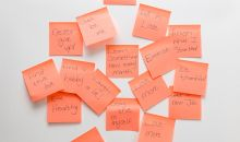 New Year Resolutions Post-It Notes