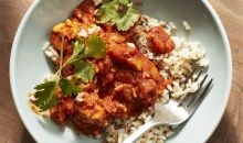 indian butter chicken plate