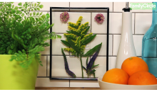 diy leaf frame