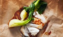 asian pacific cod in parchment paper