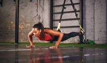 woman doing trx pushup