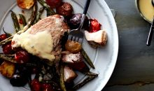 Tuna with Roasted Niçoise Vegetables on plate with fork