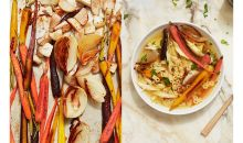 roasted vegetable chicken soup split