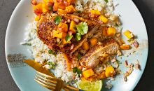 jerk chicken coconut rice mango salsa