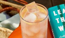 fuzzy navel gazer cocktail with ice