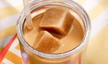 iced coffee with coffee-infused ice cubes