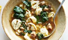 Sausage, Kale and Tortellini Stew