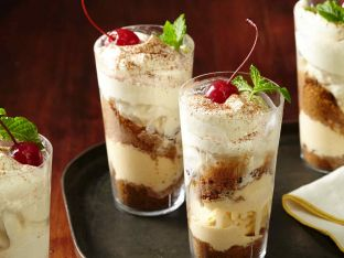 Eggnog Ice Cream Parfaits
