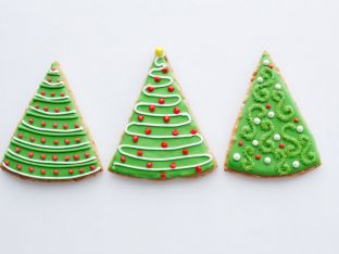 How to Make Oatmeal-Spice Cookie Trees