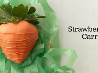 "How to Make Dipped Strawberries ""Carrots"""