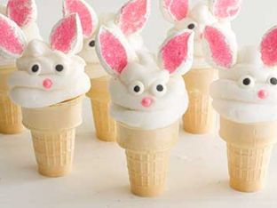 How to Make Bunny Cake Cones