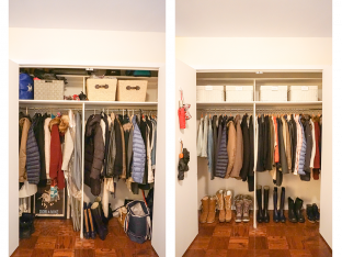 Dori's Coat Closet Before and After