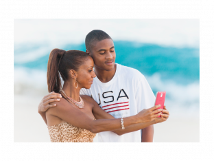 Holly Robinson Peete and son