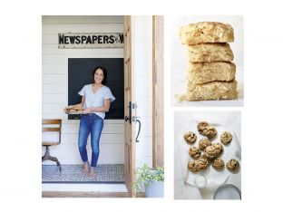 Joanna Gaines with biscuits and cookies