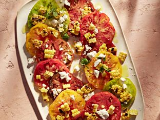heirloom tomato and corn salad
