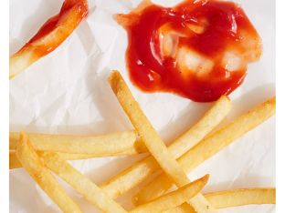 ketchup and fries