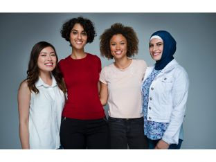 diverse group of smiling women