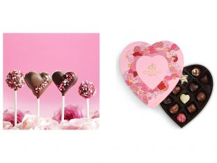 Godiva Valentine's Day Freshly Made Heart Fudge Pops and Heart Chocolate Gift Box