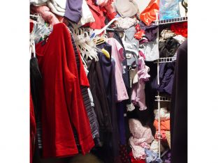 messy cluttered closet