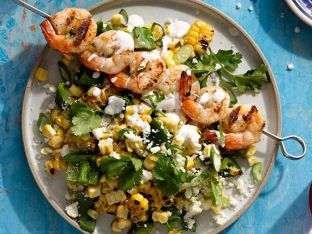 Mexican Elote Salad with Shrimp