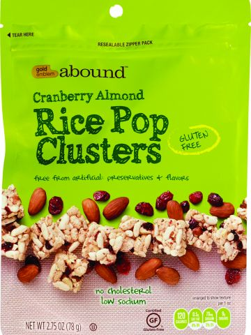 Gold Emblem Abound Cranberry Almond Rice Pop Clusters