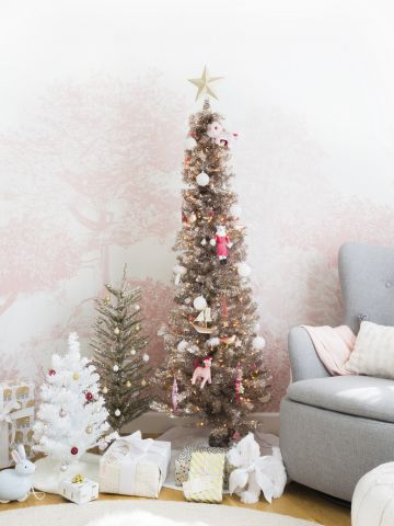 Blush-Tone Bling Christmas Tree