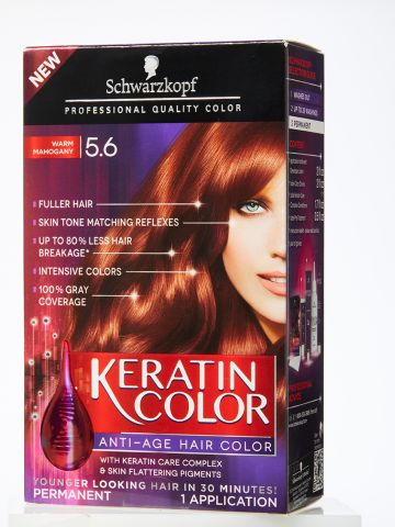 Hair Dye Box Keratin Color