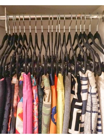 Dori's Master Closet AFTER hangers