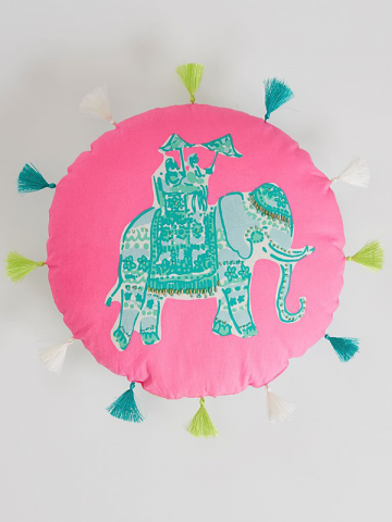 Elephant Bazaar Pillow