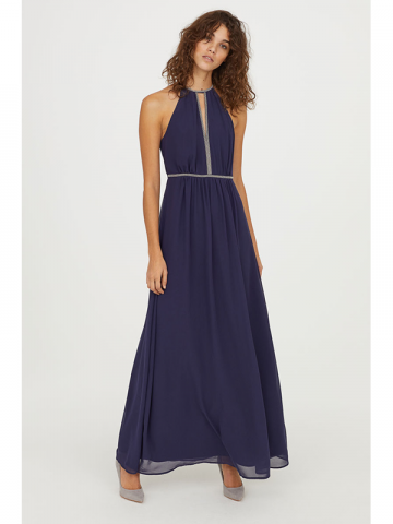 H&M Navy Long Prom Dress