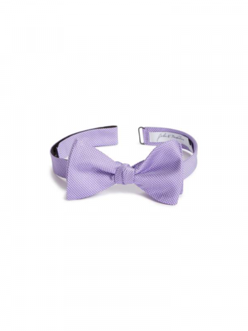 Lilac Pin Dot bow tie