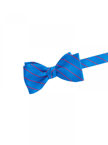 Vineyard Vines silk blue fishing line stripe bow tie