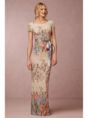 Anthropologie floral prom gown