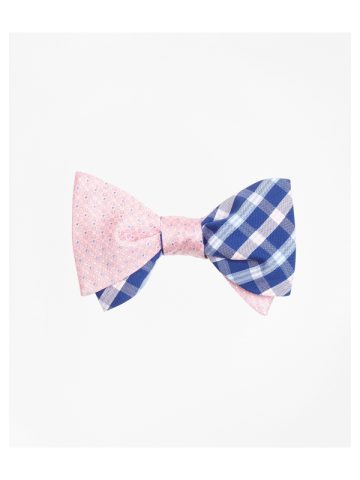 Brooks Brothers pink and blue bowtie