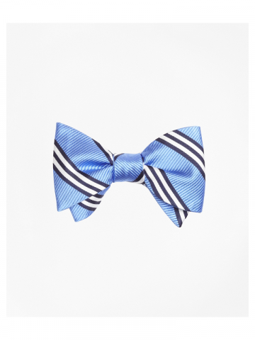 Brooks Brothers light blue stripe bow tie