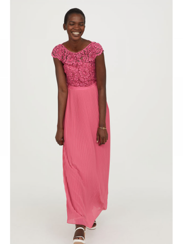 H&M pink floral prom dress