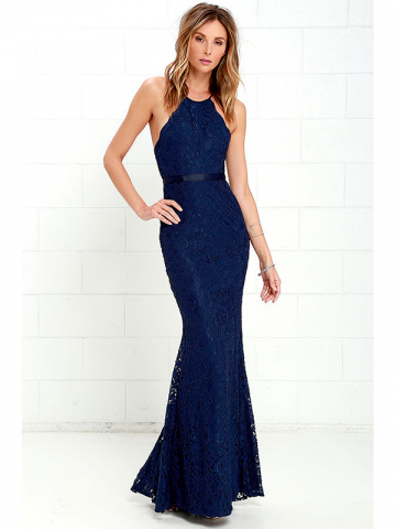 Lulus navy blue prom dress