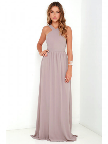 Lulu's Mauve Prom Dress