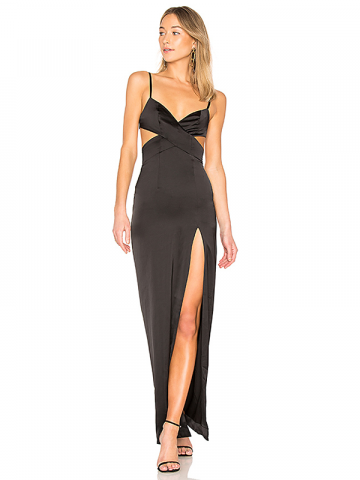 Revolve black cutout prom gown