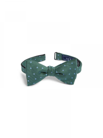 The Tie Bar green dot bow tie