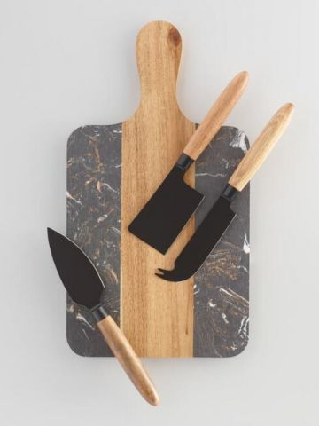 Black Marble And Wood Cheese Board And Knives.jpg