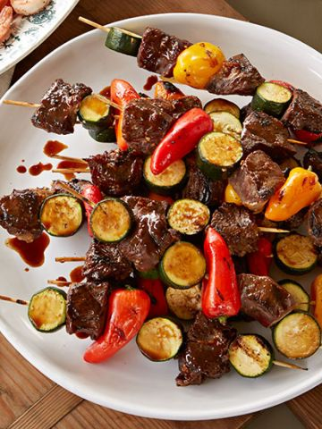 Beef and Veggie Skewers