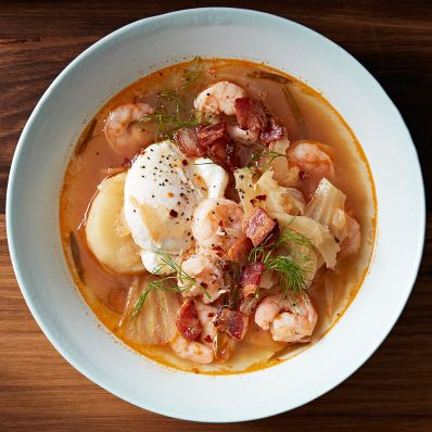 Eastern Carolina-Style Shrimp Stew in bowl