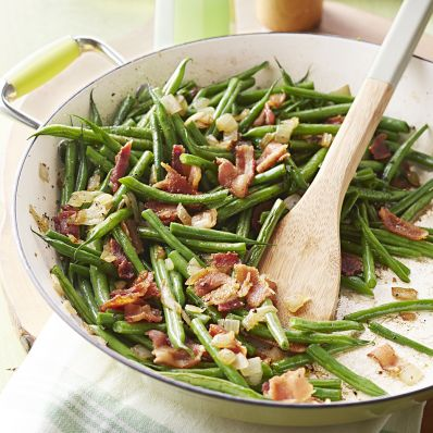 cider green beans with bacon recipe