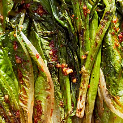 Grilled Romaine with Korean Dressing
