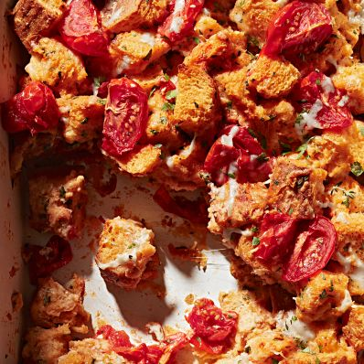 roasted strata with tomatoes