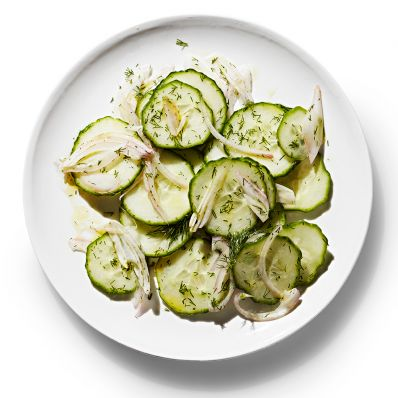cucumber salad with shallot and dill