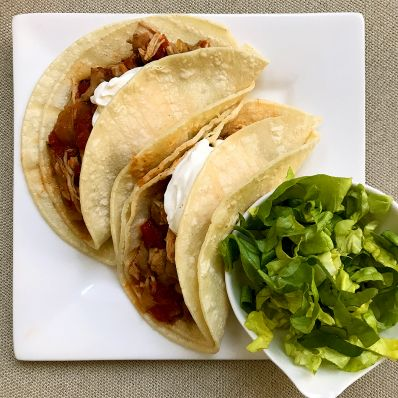 chicken tacos with corn tortillas